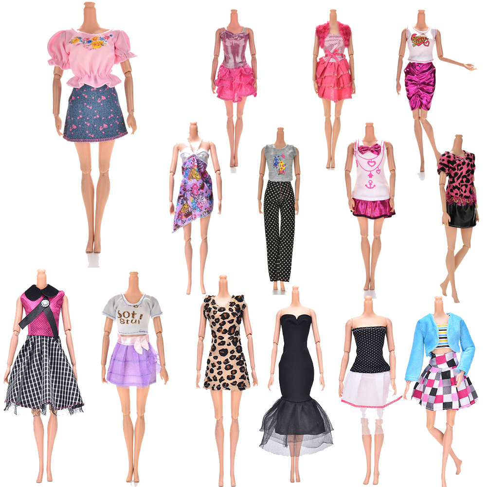 Multi styles Elegant Handmade party Dress For  Doll Floral Clothes Clothing Or Crystal shoes Dolls Accessories