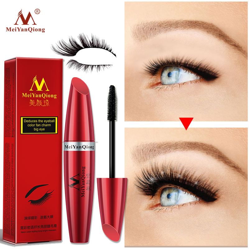 1e96f9bee41 MeiYanQiong neon whisper long bright mascara moisturizing easy to dry  natural curling thick waterproof sweat proof eyelash care-in Mascara from  Beauty ...