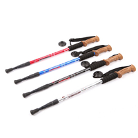 3 Section Anti Shock Hiking Walking Trekking Trail Poles Stick Adjustable Canes For Climbing Mountaineer 20