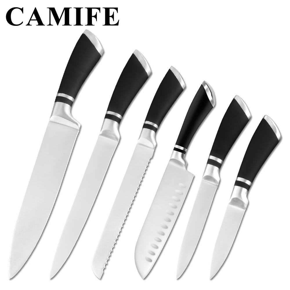 Stainless Steel Kitchen Knives Set Fruit Paring Utility Santoku Chef Slicing Bread Japanese Kitchen Knife Set Accessories ToolsStainless Steel Kitchen Knives Set Fruit Paring Utility Santoku Chef Slicing Bread Japanese Kitchen Knife Set Accessories Tools