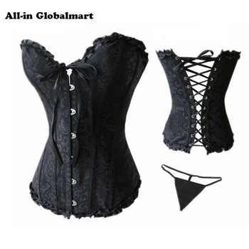 Women Halloween Waist slimming Corset Lace Up Sexy Boned Corsets Bustier Overbust Gothic Corselet Plus Size Burlesque Shaper
