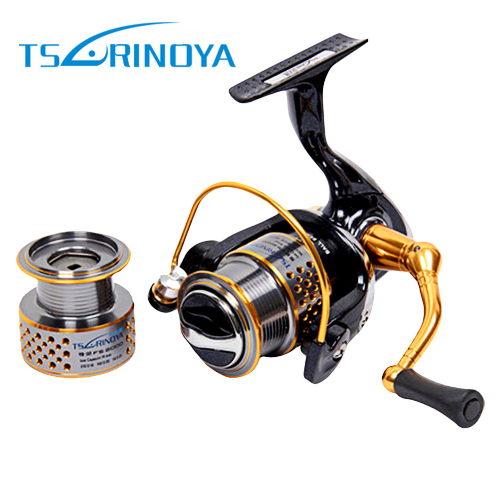 цена на TSURINOYA DW2000 Metal Fishing Reel 8 + 1 Ball Bearings 5:2:1 Spinning Fishing Reel for Casting Lure Tackle Line Pesca