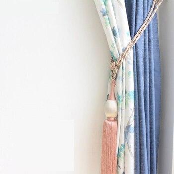 1 pair tieback European simple hanging ball strap Curtain decoration accessories tassel hanging spike tieback tie tape back M399