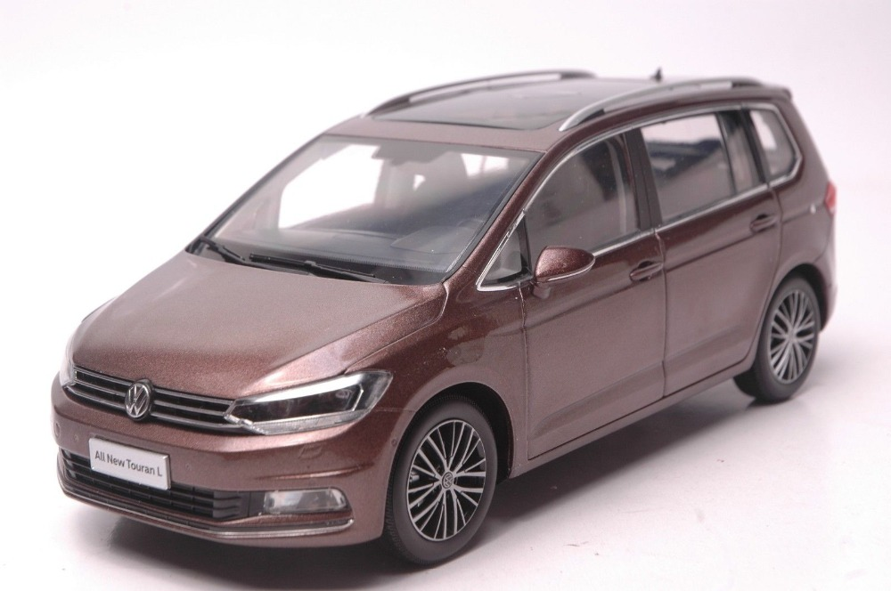 1:18 Diecast Model for Volkswagen VW Touran L 2016 MPV Brown Alloy Toy Car Collection Gifts high simulation 1 18 advanced alloy car model volkswagen golf gti 1983 metal castings collection toy vehicles free shipping