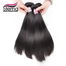FREE SHIPPING STEMA Hair  Wholesale 1kg 10pcs Malaysian Virgin Hair Straight Top Quality Straight Virgin Hair Cheap Hair Bundles