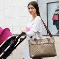 Estilo de Moda de alta Qualidade Saco de Fraldas Grandes Sacos de Fraldas para Mamãe Maternidade Multifuncional Saco De Carrinho De Criança