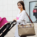 High Quality Style Fashion Diaper Bag Big Nappy Bags for Mommy Multifunctional Maternity Stroller Bag