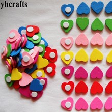 50PCS/LOT.Mix hearts star flower apple smile animals numbers wood stickers Plastic dragonfly butterfly stickers Home decoration