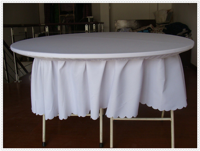 10pcs White Round Strenth Spandex Table Covers Top Cover Wedding Tablecloth  Free Shipping