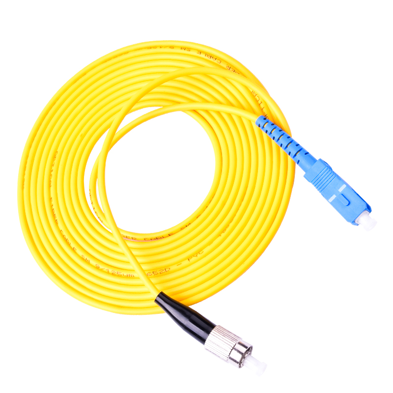 Free Shipping 10pcs/lot SM SX 3mm 9/125 SC/PC To FC/PC SC-FC Fiber Optic Patch Cord
