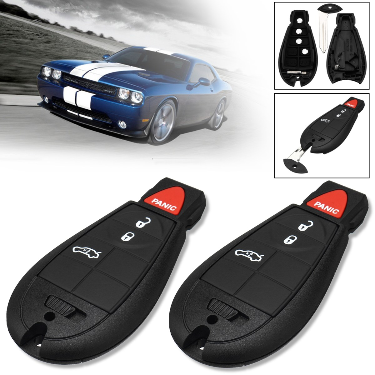 New Key Fob Remote Shell Case For a 2008 Chevrolet Tahoe w// 6 Buttons