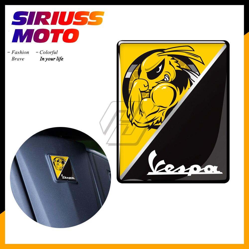 3D Motocicleta Etiqueta Do Logotipo Do Decalque Itália Adesivos Substituir Caso para PIAGGIO VESPA GTS GTV LX LXV 125 250 300 Ie super