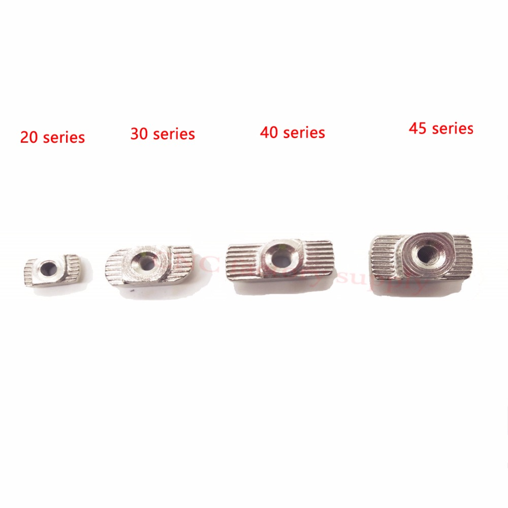 HOT Carbon Steel T Type Nuts Fastener Aluminum Connector M3M4M5M6M8 For EU Standard 4040 Industrial Aluminum Profile For Kossel