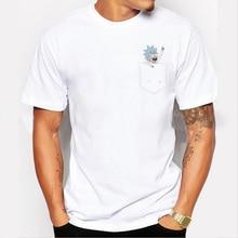 2017 New Men Casual T shirt Tiny Rick Buddy t-shirt Short Sleeve casual Tees Rick And Morty design hipster Funny Tops