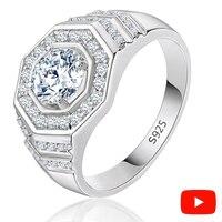 Не поддельные ювелирные изделия чистого 100% S925 кольцо из стерлингового серебра 925 алмаз мир йо проверить сейчас преувеличенный хип-хоп любов...