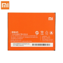 Original Replacement Battery For Xiaomi Mi Redmi Note 2 redmi nota2 Redrice Note2 BM45 Genuine Phone 3060mAh