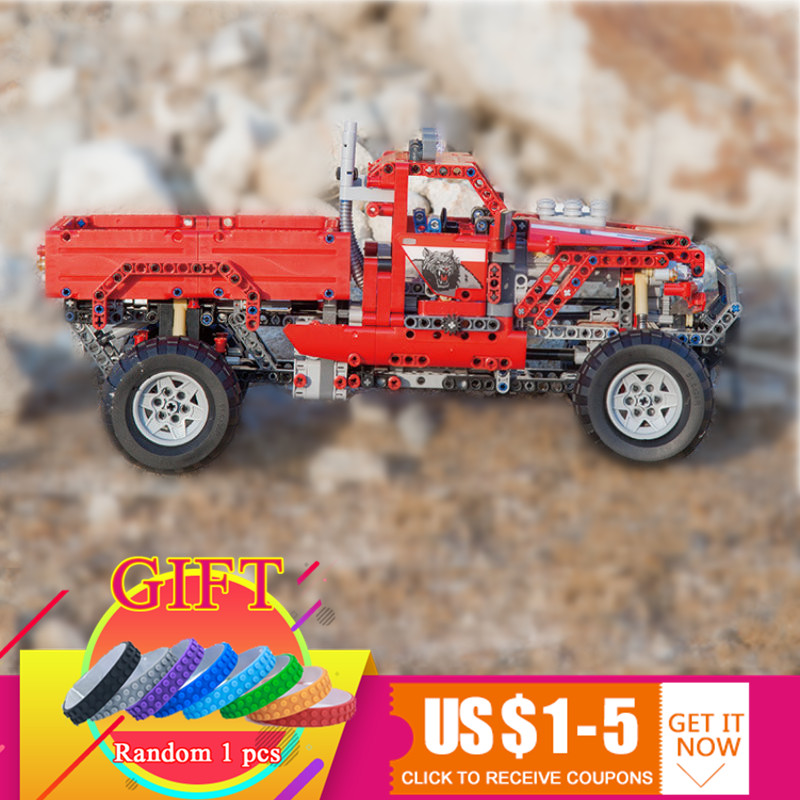 3362 1053pcs Technical 2 in 1 Pickup Truck Toy Building Block Car Model SUV Off-road Compatible with 42029 Kid Gifts Toys lepin