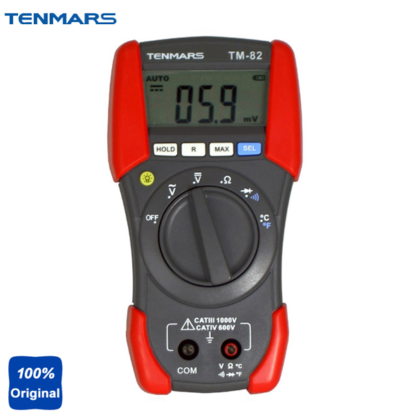 CAT IV 600V LCD Backlit Display with Maximum Reading of 1999 Digital Multimeter TM-82 tm 204 light meter with 3 1 2 digits lcd with maximum reading 2000