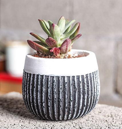 silikonová forma 3d váza Multi - masa rostlin cementové květináče Evropský styl multi - květináče keramické Vertikální pruhy plísní