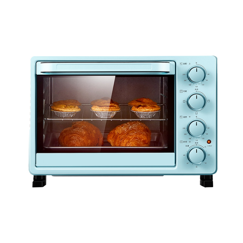 DMWD 25L Mini Automatic Electric Oven Multifunctional Cake Bread Toasters Pizza Baking Machine Blue 1400W 220V|Ovens| |  - title=
