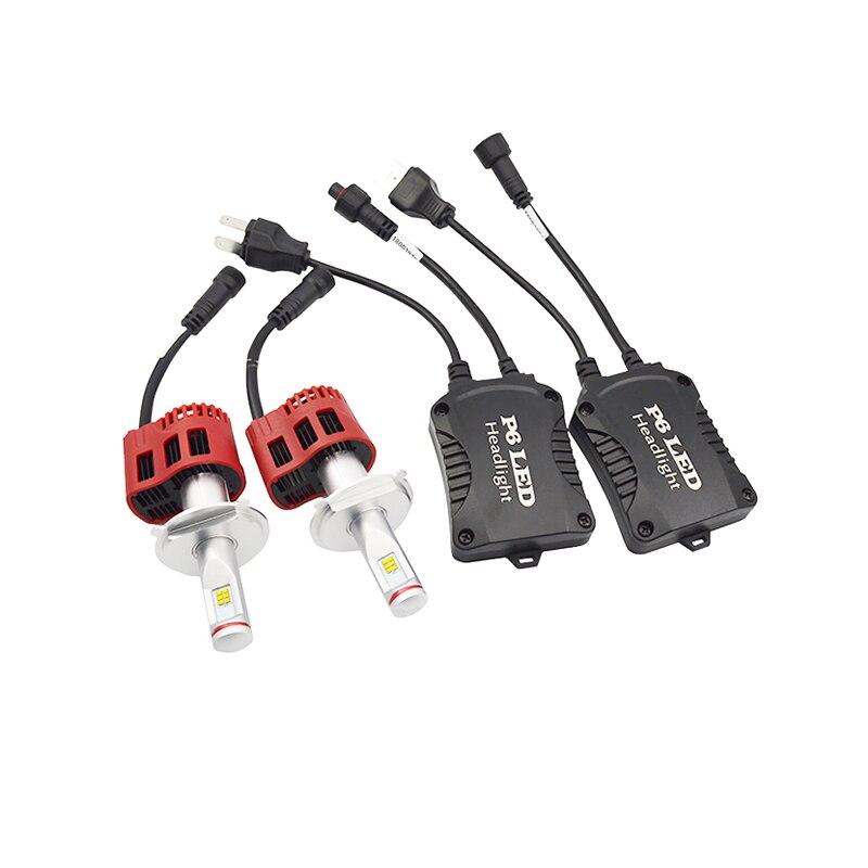 1 Set H4/9003/HB2 45 W 4000 K 6000 K ampoules de phares LED Auto voiture phare avant remplacement ampoules lampe voiture style DC 12