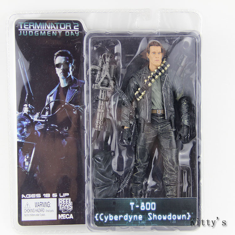 Free Shipping NECA The Terminator 2 Action Figure T-800 Cyberdyne Showdown PVC Figure Toy 718cm #ZJZ001 neca the terminator 2 action figure t 800 endoskeleton classic figure toy 718cm 7styles