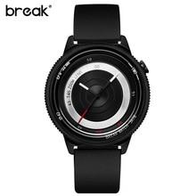 Break original correa de caucho negro de lujo amantes hombres mujeres unisex top moda casual impermeable de cuarzo creativo relojes deportivos