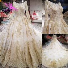 AIJINGYU Pearl Wedding Dress Online Shop China Gown Plain With Butterfly  Muslim 2019 Married Plus Size 757623e4562b