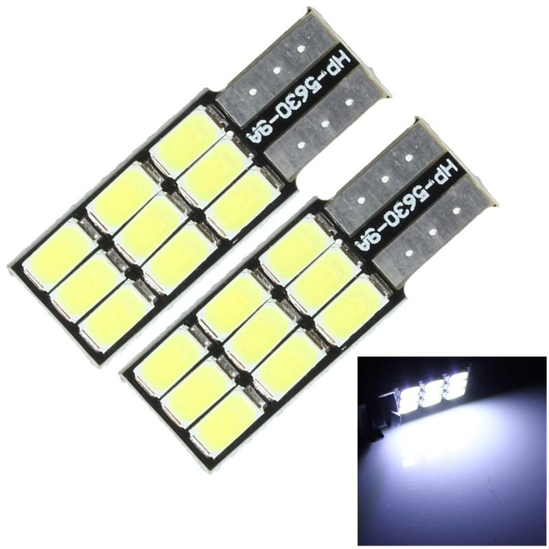 2pcs T10 168 194 W5W 9 LED 5630 SMD Canbus Error Free Car LED Bulbs Car Light Source Wedge Side Bulb White DC12V 4x canbus error free t10 194 168 w5w 5050 led 6 smd white side wedge light bulb