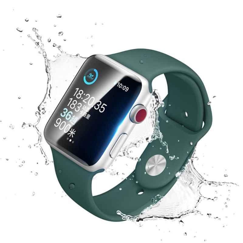 1 juego nuevo 3D completa de TPU película para Apple reloj 44mm 44mm de borde suave Anti púrpura luz azul de película Protector de pantalla para que Ver 4
