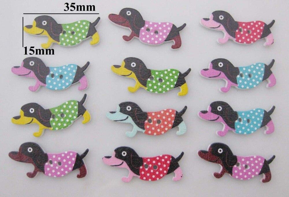 ٩(^‿^)۶WBNLEG niños ropa botones mix 120 piezas Animal perro patrón ...