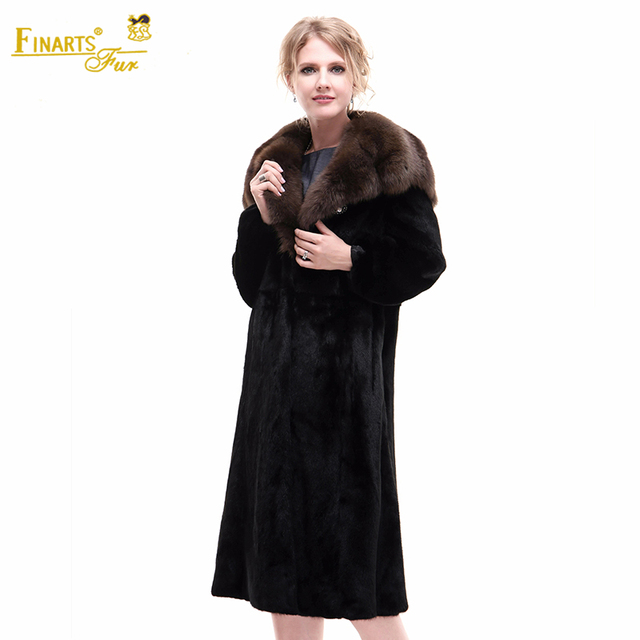 Superior Real Mink Velvet Famous American Fur Coats Sable Women ...