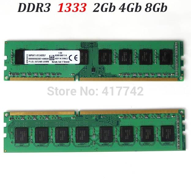 RAM ddr3 1333 memoria ram DDR3 1333Mhz 16Gb 8Gb 4Gb 2Gb darbvirsmas atmiņa / PC3-10600 / 2G 4G 8G garantijas-labas kvalitātes