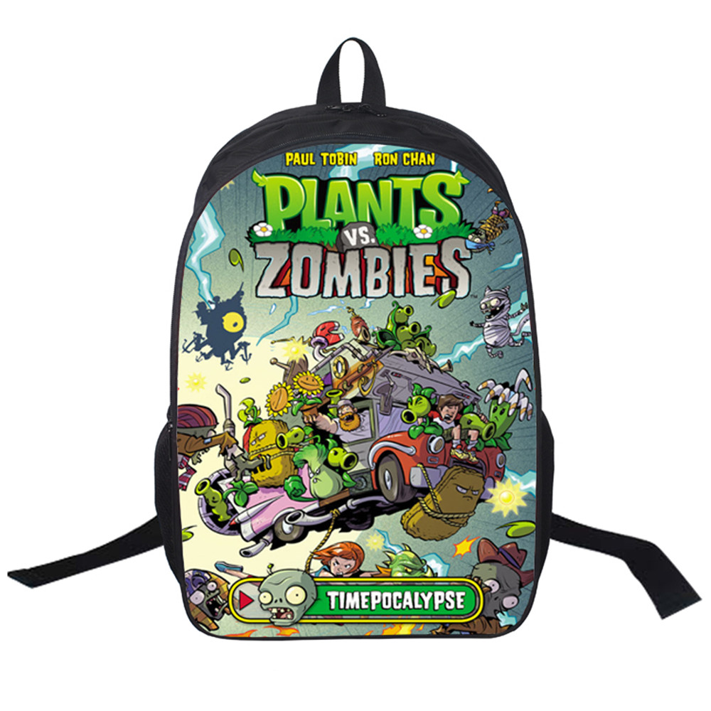 Women Bags Moive Plants Vs. Zombies Backpack Students School Bag For Girls Boys Rucksack Mochila Private Customize