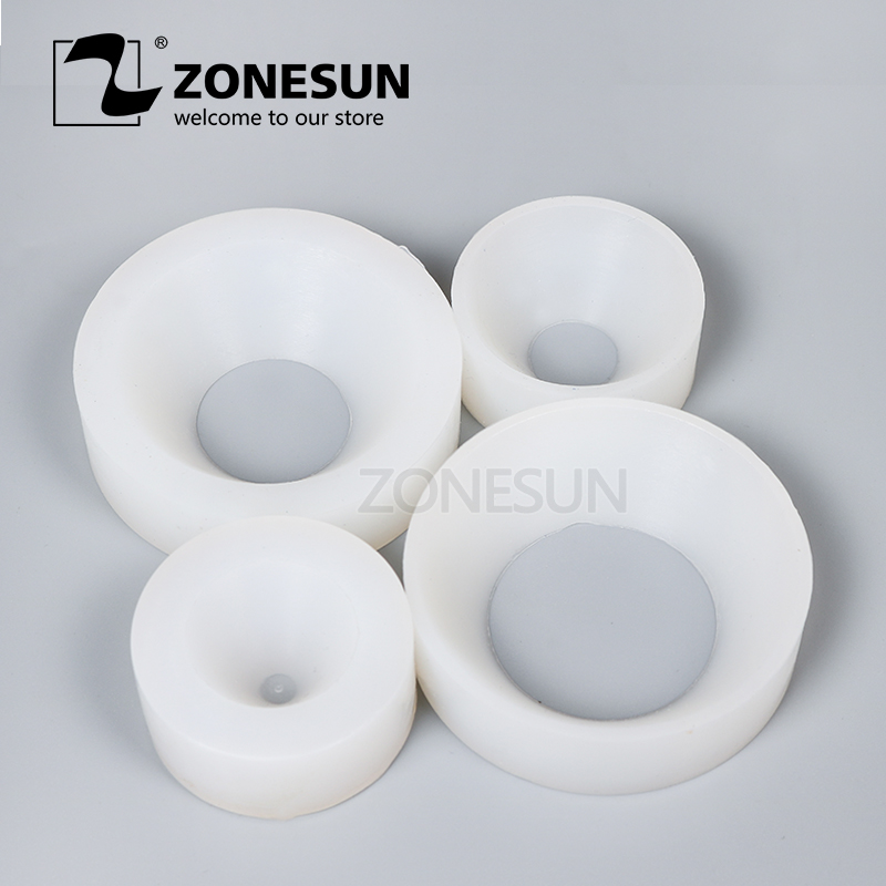 ZONESUN Cap Screwing Chuck, Bottle Cap Adoptor Of Capping Machine, Silicone Capping Chuck,10-50mm, Anti-wear
