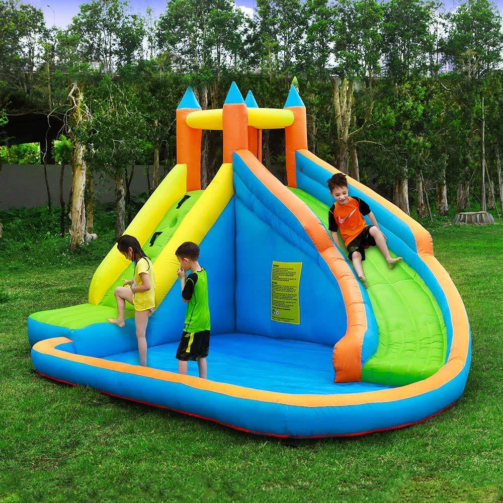 inflatable mini aqua Park pool slide inflatable Jumping ...