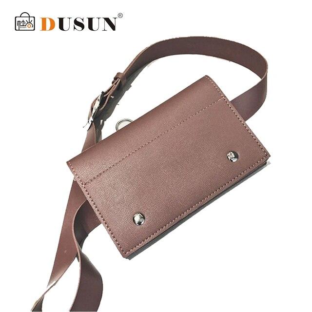 DUSUN New Arrival Women Waist Packs Fashion Simple Design Bags Classic Trendy Waist Bags Vintage Solid Bags Paquetes De Cintura