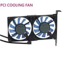 Quieten General Graphics Card Cooling Fan Ultra Thin Pci Ebm Papst 8015 3 Fan PCI Cool