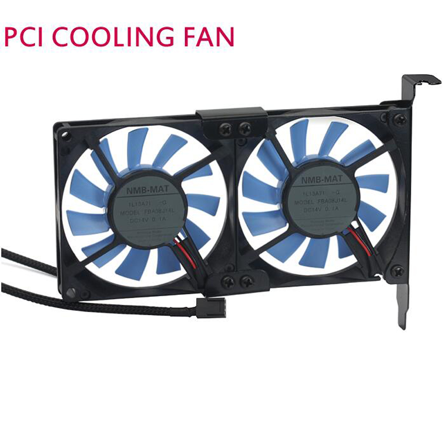 Quieten general graphics card cooling fan ultra-thin pci ebm papst 8015 2 fan PCI Cool Cooling Set free shipping free shipping t128015su msi r4770 hd4770 4pin pwn graphics card fan
