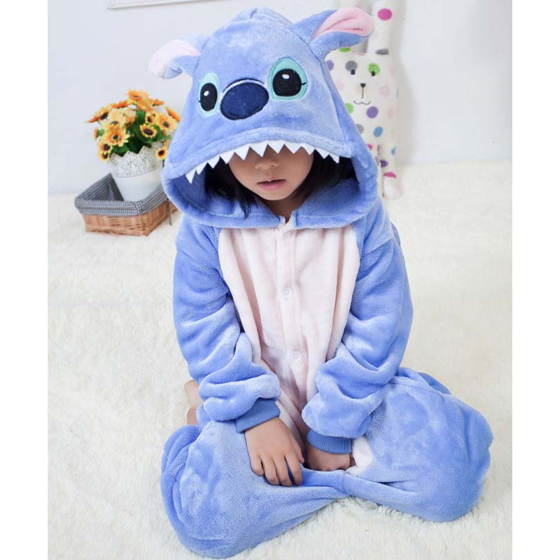 все цены на Onesie Kinderen Stitch Overalls Jumpsuit Kids Pijama Children Animal Cosplay Costume Kigurumi Onesie Blanket Sleepers Pajamas