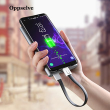 Key Chain USB Type C Cable Fast Charging Cable For Samsung Redmi Note 7 Charger Usbc Type-C Keychain Cord Short Cabel Micro USB(China)