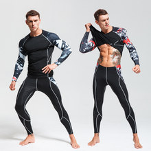 Teen Thermal Underwear Set Winter Warm Training Quick dry Clothes Long johns Winter Thermal Underwear Rashgard male Sport suit(China)