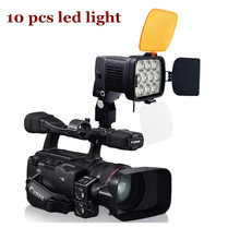 Professional VL012 Bi-Color 3200K – 5000K LED Video Studio Photo Light High CRI for camera camcoder Dimmable + DC power cable