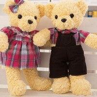 BOLAFYNIA Kaynağı kaliteli peluş oyuncak bebek düğün hediyesi çift teddy bear karikatür Dolması oyuncaklar doğum günü ve Noel hediyeleri
