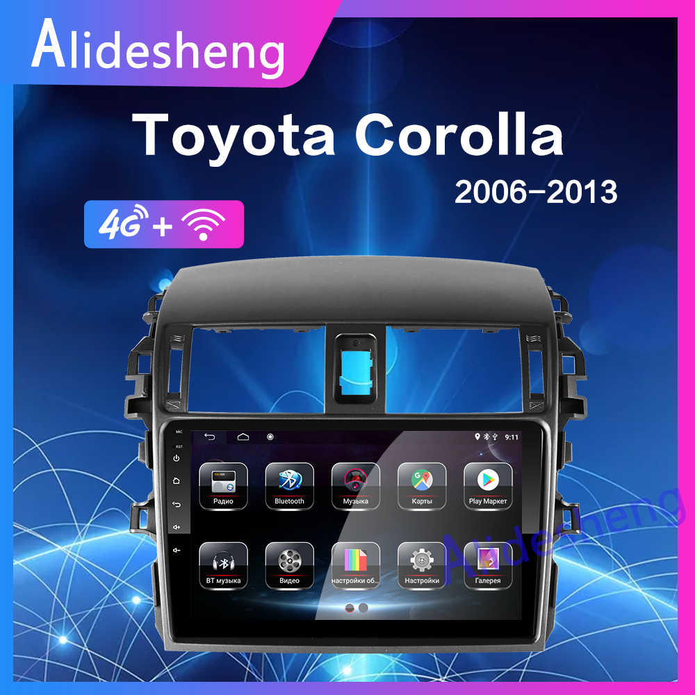4G Android 8.1 Car Multimedia Player For Toyota Corolla E140/150 2008 2009 2010 2011 2012 2013 Stereo Radio GPS Navigation 2 din