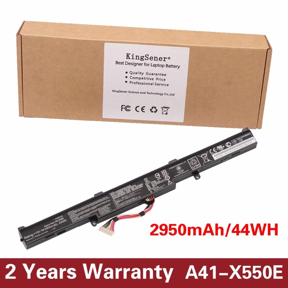 Prix pour 15 v 2950 mah nouvelle batterie d'ordinateur portable d'origine a41-x550e pour asus x450 x450e x450j x450jf x751l a450j a450jf a450e f450e 44wh 4 cellules