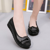 2018 New Spring Genuine Leather Women Flat Shoes Soft Bottom Women Flats Slip On Moccasin Soft