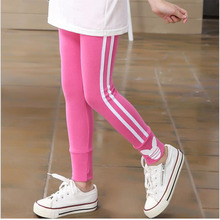 Retail spring autumn girls leggings cotton pants for girls sport leggings girl clothing 3-10Years children fashion casual pants