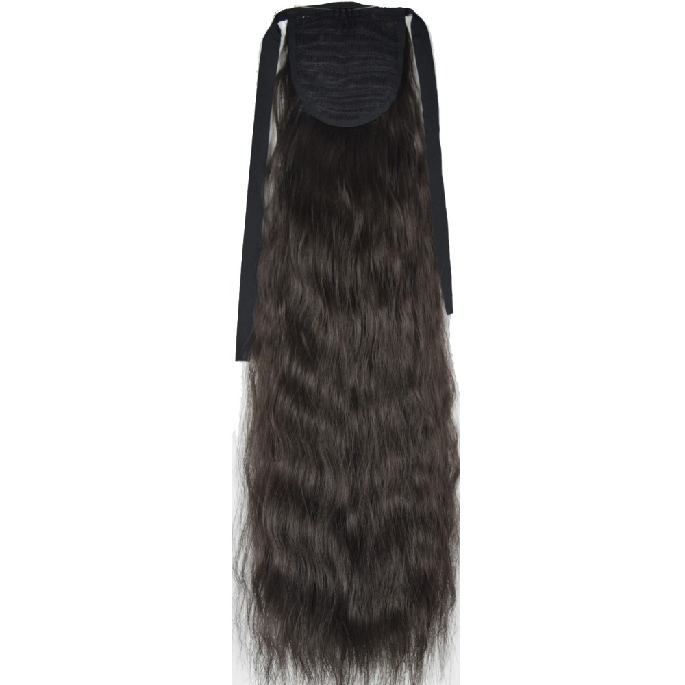 TOPREETY Heat Resistant B5 Synthetic Fiber 22 55cm 90gr Kinky Straight Ribbon Ponytail Extensions 40 Colors Available