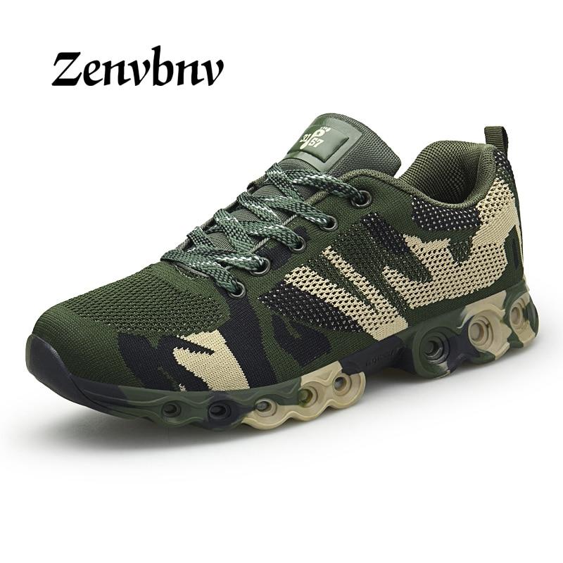 ZENVBNV Outdoor Military Camouflage Men Casual Shoes four seasons Krasovki Army Green Trainers Zapatillas Deportivas Hombre